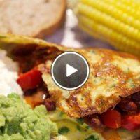 Mexicaanse omelettortilla