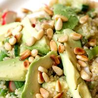 quinoa salade met geroosterde kaneelpompoen